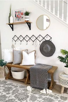 14 Best Entryway Ideas That You Will Want to Copy - Chaylor & Mads - - Find gorgeous entryway ideas to get inspired including entryway furniture, storage ideas, entryways with benches and how to arrange your entry table for that wow factor. Entryway Storage, Entryway Furniture, Entryway Decor, Entryway Ideas, Furniture Ideas, Furniture Storage, Modern Entryway, Apartment Entryway, Home Design