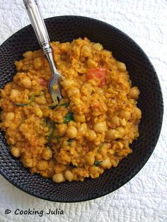 COOKING JULIA: DHAL DE LENTILLES CORAIL AUX POIS CHICHES