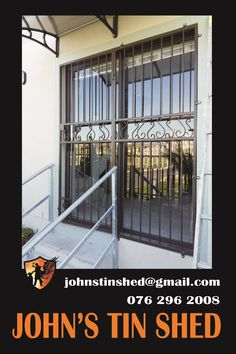 Decorative Security gate for sliding door with doggie trap