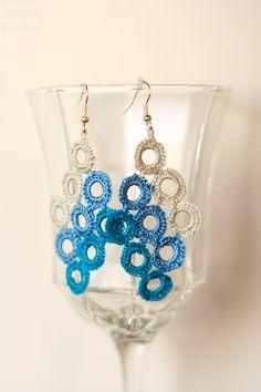 blue circle earrings :)