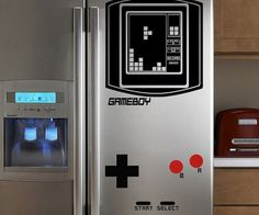 Refrigerator Game Boy Tetris Decal  Power up your kitchen with this geeky refrigerator Game Boy Tetris decal. No matter what the color of your fridge these easy to install decals transform the plain facade into a lively and nostalgic tribute any gamer can appreciate.  $19.74  Check It Out  Awesome Sht You Can Buy