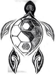 Turtle tattoo.