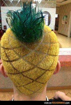El peinado de moda. Este verano se lleva ¡el pelo piña!