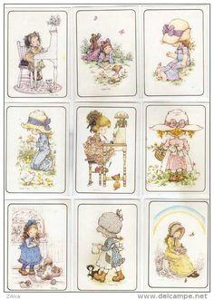 uy Granny Dolls, Susan Wheeler, Decoupage Printables, Barbie Miniatures, How To Make Labels, Holly Hobbie, Vintage Cartoon, Decoupage Paper, Flower Fairies