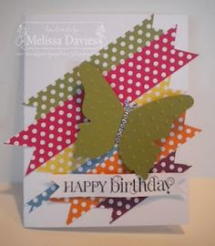Washi Tape Cards / Tarjetas Polka Dot Birthday Card with Washi tapes!!!