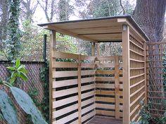 Kaminholzunterstand design  Einen stabilen Brennholzunterstand (Brennholzschuppen) gut und ...