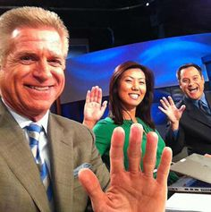 Lewis - Nam - Lewis on the anchor desk! Dan retired this month. May 2014.