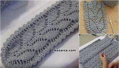 UZUN MOTİFLERİ BİRLEŞİMİ İLE TAM ANLATIMLI KADIN YELEĞİ | Nazarca.com Crochet Leaves, Baby Knitting Patterns, Home Decor, Crochet House, Tricot, Grim Reaper, Crochet Dresses, Wool, Pattern