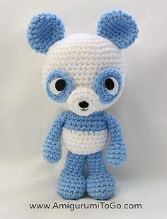 Little Bigfoot Panda 2014 - Free by Sharon Ojala of Amigurumi Freely