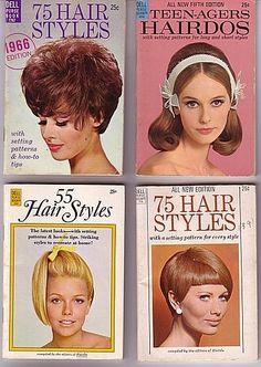 70's hair.. vintage hair styles. my mom used to buy these books when i was growing up. i always thought those styles were so glamorous!