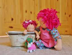Germaine gives baby Jo a bath. <3 My loves by Winterludes Dolls (lamb by Wool Food Mama).