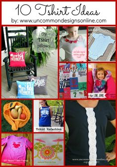 10 t-shirt craft ideas #tshirt #craft #upcycle