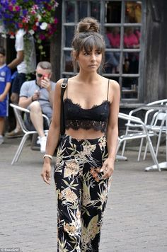 Horror crash: Roxanne Pallett was airlifted to hospital after a horror car crash saw her lose consciousness and have to be freed from the wreckage by firefighters on Wednesday (pictured the morning of the incident)