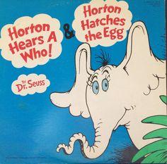 Dr. Seuss Record Horton Hears a Who Horton Hatches an Egg Children's LP Vinyl Record