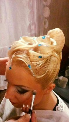 Beautiful ballroom hairstyle - this one is less octopus-like