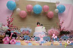 Mariah Festas: Aniversário - Tema Kokeshi