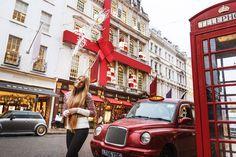 Диана // Прогулочная фотосессия в Лондоне в предновогодний период