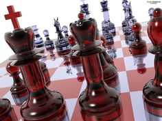 3d Best photos red chess