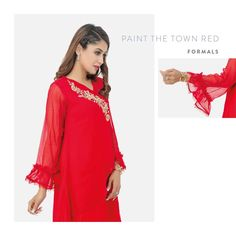 Revamp your wardrobe with this red Angharkha style shirt by #Change Shop Now http://changeclothings.com.pk/ready-to-wear/v6 #Change #womenwear #readytowear #ladiesfashion #womenfashion #wearChange #womenreadytowear #newarrival #Changecollection #shoponline