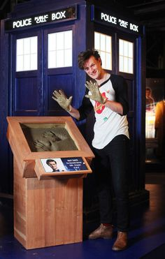 Matt Smith Makes An Impression At The Doctor Who Experience | SFX | Doctor Who Matt Smith and lead writer Steven Moffat created their own piece of Doctor Who history today during their first visit to the Doctor Who Experience in Cardiff as the their hand prints were immortalised in cement, which will be displayed permanently at the new attraction.