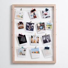 Timeframe's Large Floating Frame is the perfect way to show off your super cute snaps. This frame + your pics and our pegs = a stylish display of your memories. This frame was made with rope and meranti. Floating Picture Frames, Polaroid Picture Frame, Polaroid Wall, Floating Frame, Polaroids, Easy Diy Gifts, Diy Crafts For Gifts, Diy Craft Projects, Diy Popsicle Stick Crafts