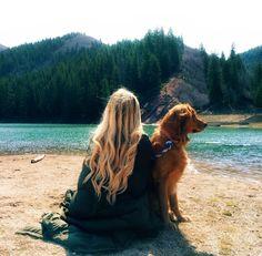 Barefoot Blonde Golden Retriever