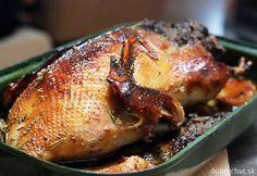 Fotorecept: Pečená kačica so šampiňónovo-pečeňovou plnkou