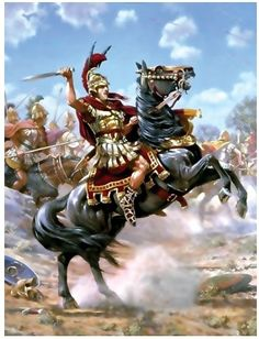 Alexander the Great, king of the #ancient #greek kingdom of #Macedonia on the un-tamable #bucephalus