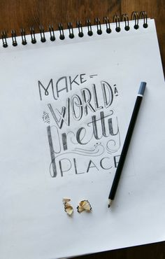 A Pair of Pears: Hand Lettering Homework