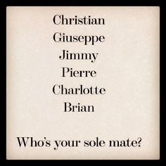 Now, I wouldn't want to limit myself to just *one* sole mate...