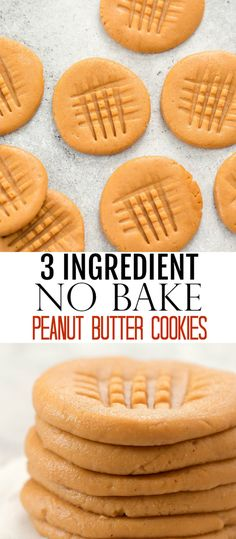 No cooking or baking required. These cookies are gluten-free, wheat flour free and refined sugar-free. They make a healthy and easy snack. Cake Mix Recipes, Cookie Recipes, Snack Recipes, Dessert Recipes, Dessert Ideas, Healthy Peanut Butter Cookies, Peanut Butter Recipes, Gluten Free Treats, Gluten Free Cookies