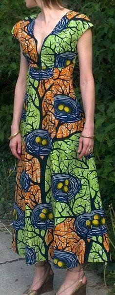 Maxi dress in African print (vogue 8382) beautiful!!!