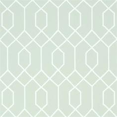 papier peint bleu vert gomtrique la farge thibaut au fil des couleurs - Papier Peint Bleu Geometrique