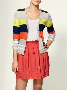 With a longer skirt, this would look super cute for school.