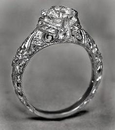 Custom Antique Engagement Rings
