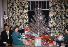 Vintage Christmas...who cares what's in the packages as long as we look good in the picture.
