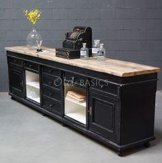 Toonbank | zie webshop nr 1-1606-037 | Old BASICS | winkelinrichting bij www.old-basics.nl | BROCANTE - INDUSTRIEEL - VINTAGE