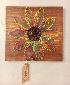 String Art / Nail and String Art / Flower / by HodgepodgeCraftsRS