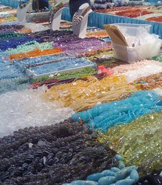 gemstones and minerals | Strung Out: The Tucson Gem and Mineral Shows If I could ever get there I could spend  all days looking at this