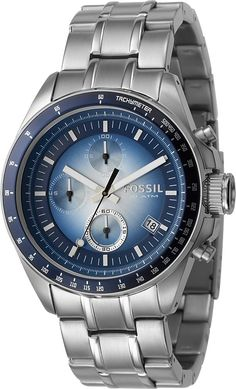 Fossil Fossil Men's Stainless Steel Chronograph Blue Dial Watch < $73.72 > Fossil Watch Men