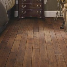 Forest Valley Flooring Fallon Hickory Thick x Wide Solid Hardwood Flooring Finish: Caravan Maple Hardwood Floors, Hickory Flooring, Hardwood Floor Colors, Engineered Hardwood Flooring, Farmhouse Flooring, Plank Flooring, Flooring Ideas, Laminate Flooring, Farmhouse Decor