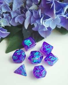 One of our favorite things to put into dice is iridescent foil ❤️ we're definately gonna try it with more colors! Dungeons And Dragons Dice, Dragon Dies, Fantasy, Geek Out, Magic The Gathering, Goblin, Resin Art, Decir No, Iridescent