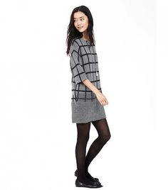 plaid sweater dress from banana Funky Outfits, Basic Outfits, Modern Outfits, Sporty Chic, Corporate Outfits, 2016 Fashion Trends, Autumn Winter Fashion, Fall Fashion, Winter Style