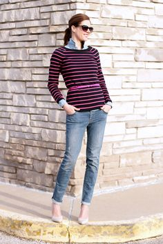 What I Wore: Stripes & Chambray
