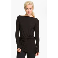 Bailey 44 'Thesis' Draped Boat Neck Top available at Nordstrom Turtleneck Style, Turtleneck Shirt, Long Sleeve Turtleneck, Different Necklines, Cotton Citizen, Boat Neck Tops, Daily Look, Mens Tees, Dresses For Work