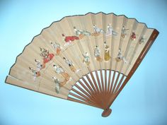Myanmar (Burma or Mandalay in the century) fan - century showing a scene from court. The blank fans were exported and painted with scenes from court life by the court painters. These are rather scarce fans today. Mandalay, Hand Fan, Painters, 19th Century, Fans, Scene, Life, Stage