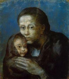 Pablo Picasso, 1903, Desemparats (pastel on paper,47.5 x 41 cm.) Museu Picasso