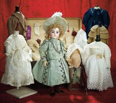 Many Wonderful Things : 11 Bebe Bru with Original Costume,Trunk,Trousseau and Two Pairs of Signed Bru Shoes