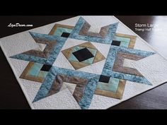 Patchwork Storm Large a Triangl Half Square Tutorial - YouTube