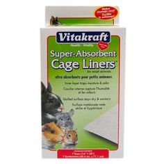 Small Animal Absorbent Cage Liner 16x28 2pk, Vitakraft - For small animals Inner layer traps moisture and odor Quilted surface stays dry and sanitary Won't get yucky and soggy like news paper Keeps pet's home clean Vitakraft Super-Absorbent Cage Liners make it easier than ever to keep your small pet's cage tidy and clean.